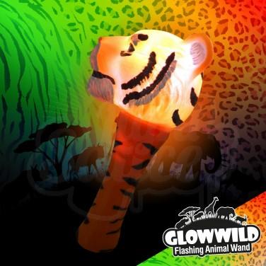 "Tiger Mini Flashing Animal Wand 7"""
