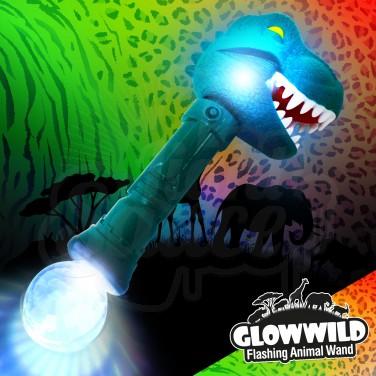"""Flashing T-Rex Animal Wand 11"""""""