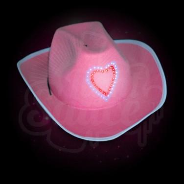 Light Up Pink Cowboy Hat