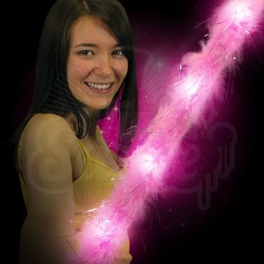Light Up Fluffy Pink Wand