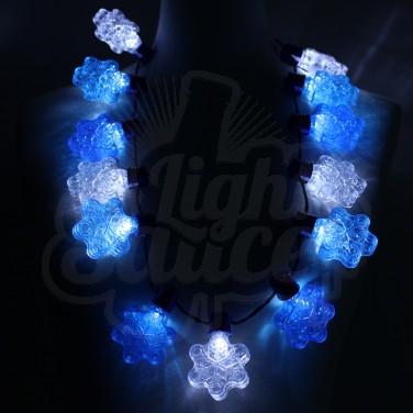 Flashing Snowflake Necklace