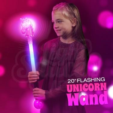 "20"" Flashing Unicorn Wand Wholesale"
