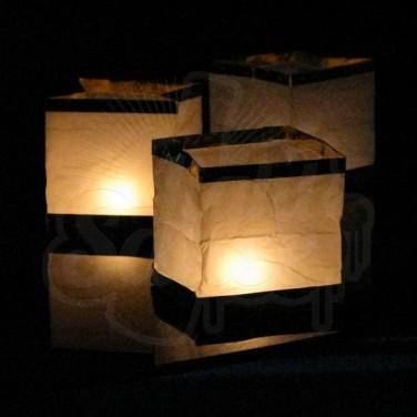 Chinese Floating Box Lantern (3 Pack)
