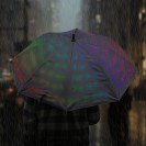 Light Up Starry Umbrella - Multi Colour