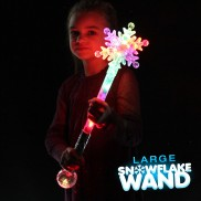 Large Flashing Snowflake Wand